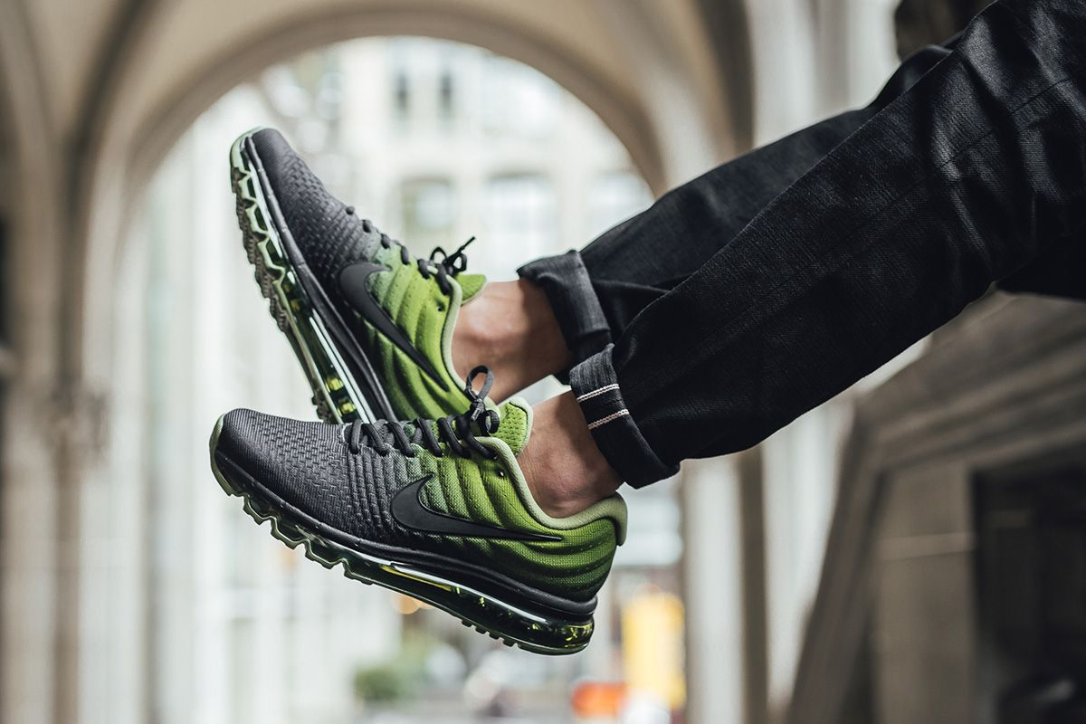 nike air max 2017 black palm green nz