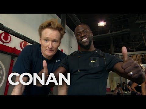 Conan Visits The Gym With Kevin Hart Kevin Hart Conan O Brien Workout