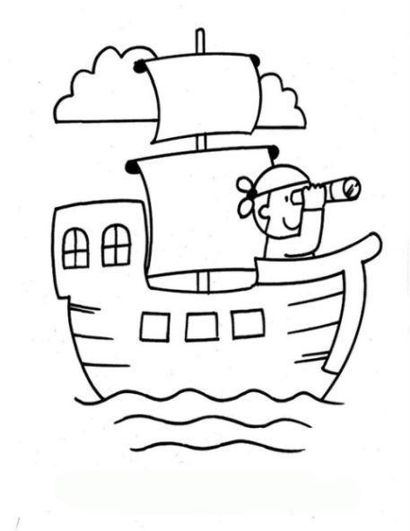 ausmalbild piratenschiff kostenlos 1 | piraten schiff