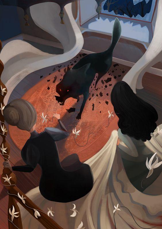 Dracula illustrations: The Wolf   Daniele Fabbri   Dracula ...