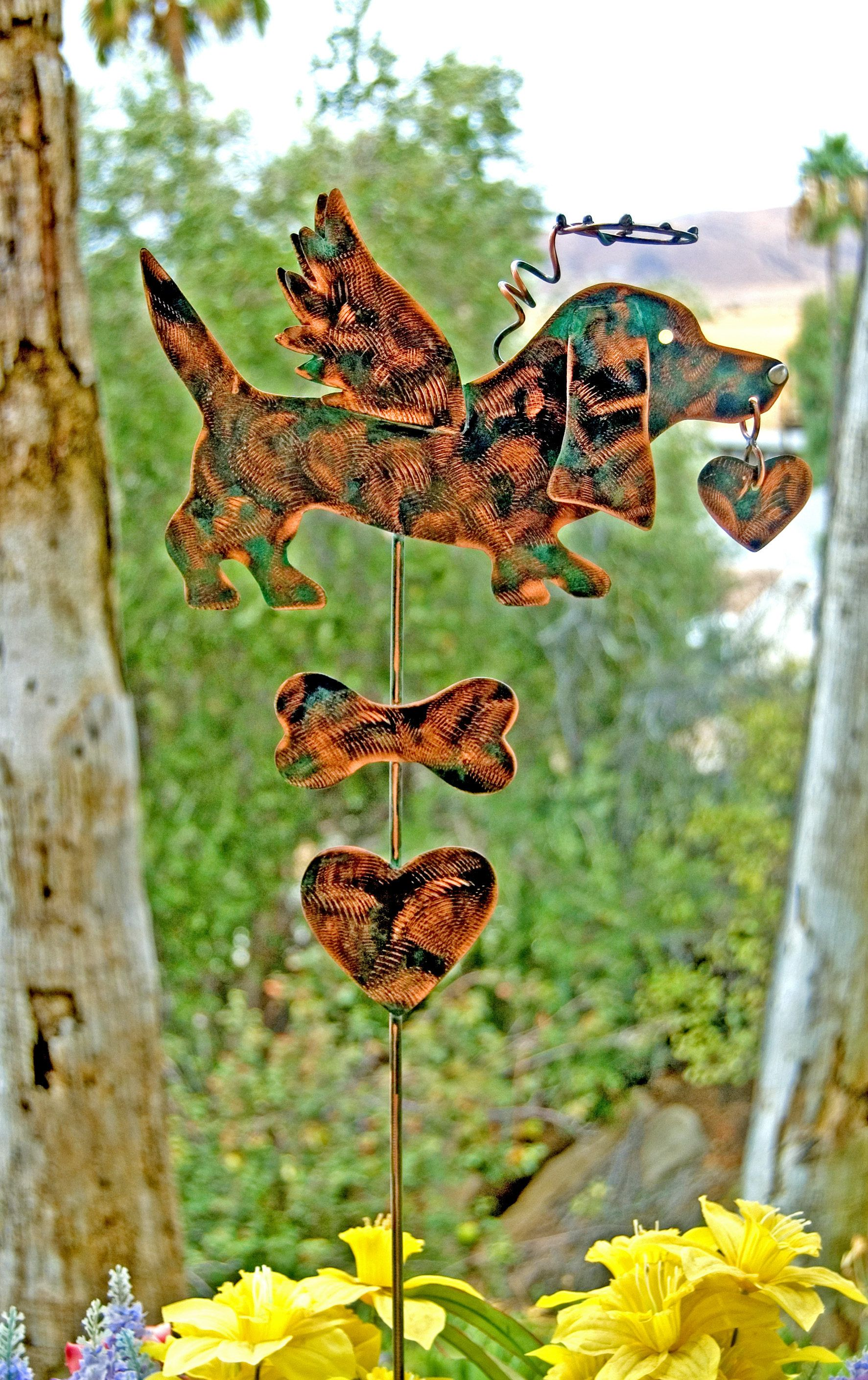 Basset Hound Pet Memorial Garden Art Stake, Metal Yard Art, Copper Pet  Memorial Dog