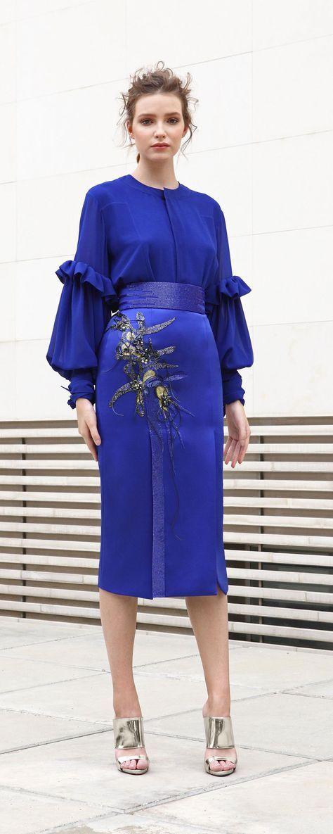 Basil Soda İlkbahar-Yaz 2018 - Hazır giyim | Azul claro, Vestido ...