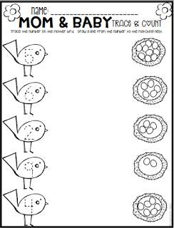 Spring Math and Literacy Printables and Worksheets for Pre-K ...