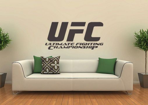 Ufc Art Vinyl Stickers Mma Cage Fighting Martial Arts Octagon