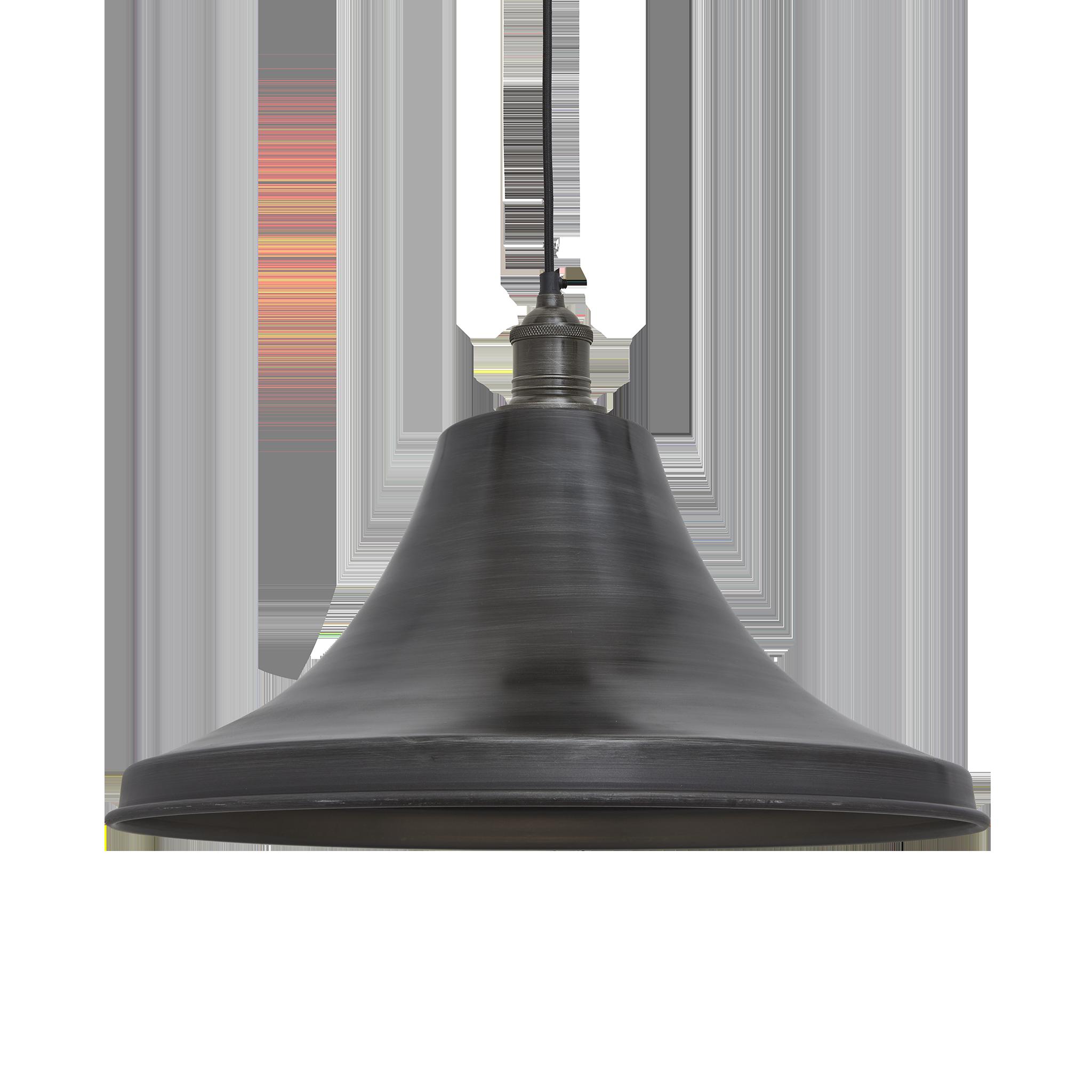 Brooklyn Vintage Giant Bell Lampshade - Dark Pewter - 20 inch ...