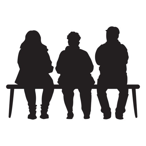 People Sitting On Bench Silhouette Transparent Png Svg Vector Silhouette People People Sitting Png Silhouette