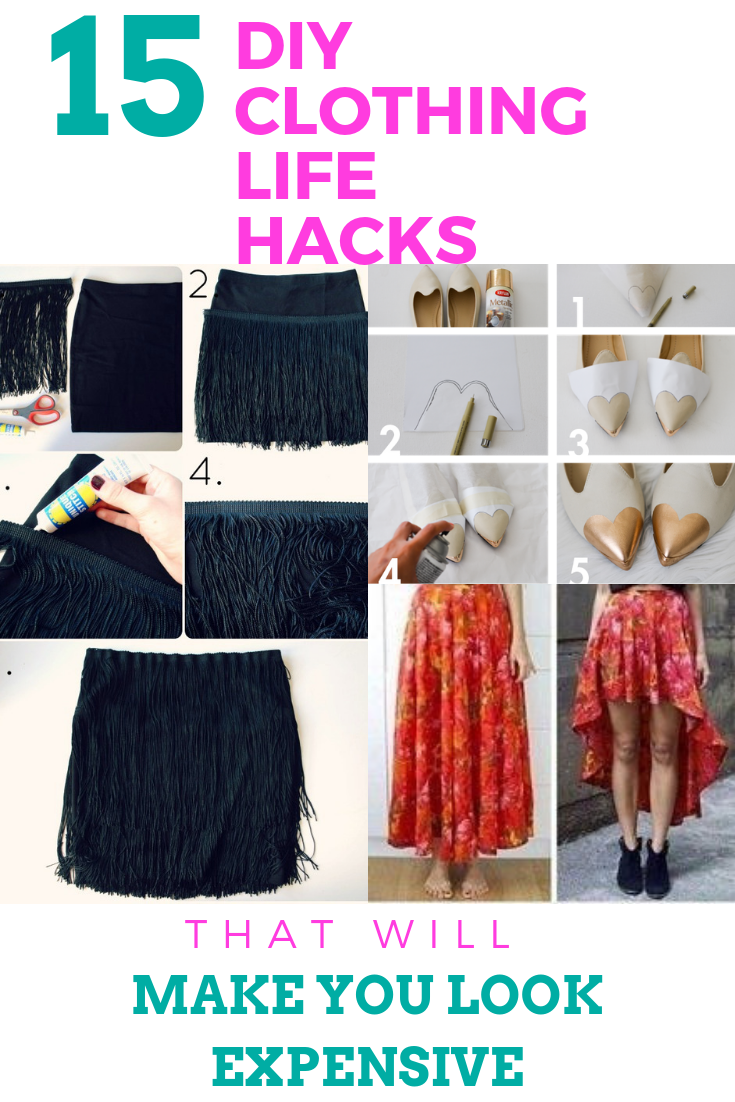 15 DIY Clothing Ideas Guaranteed To Make You Look Expensive -   13 DIY Clothes Shoes outfit ideas