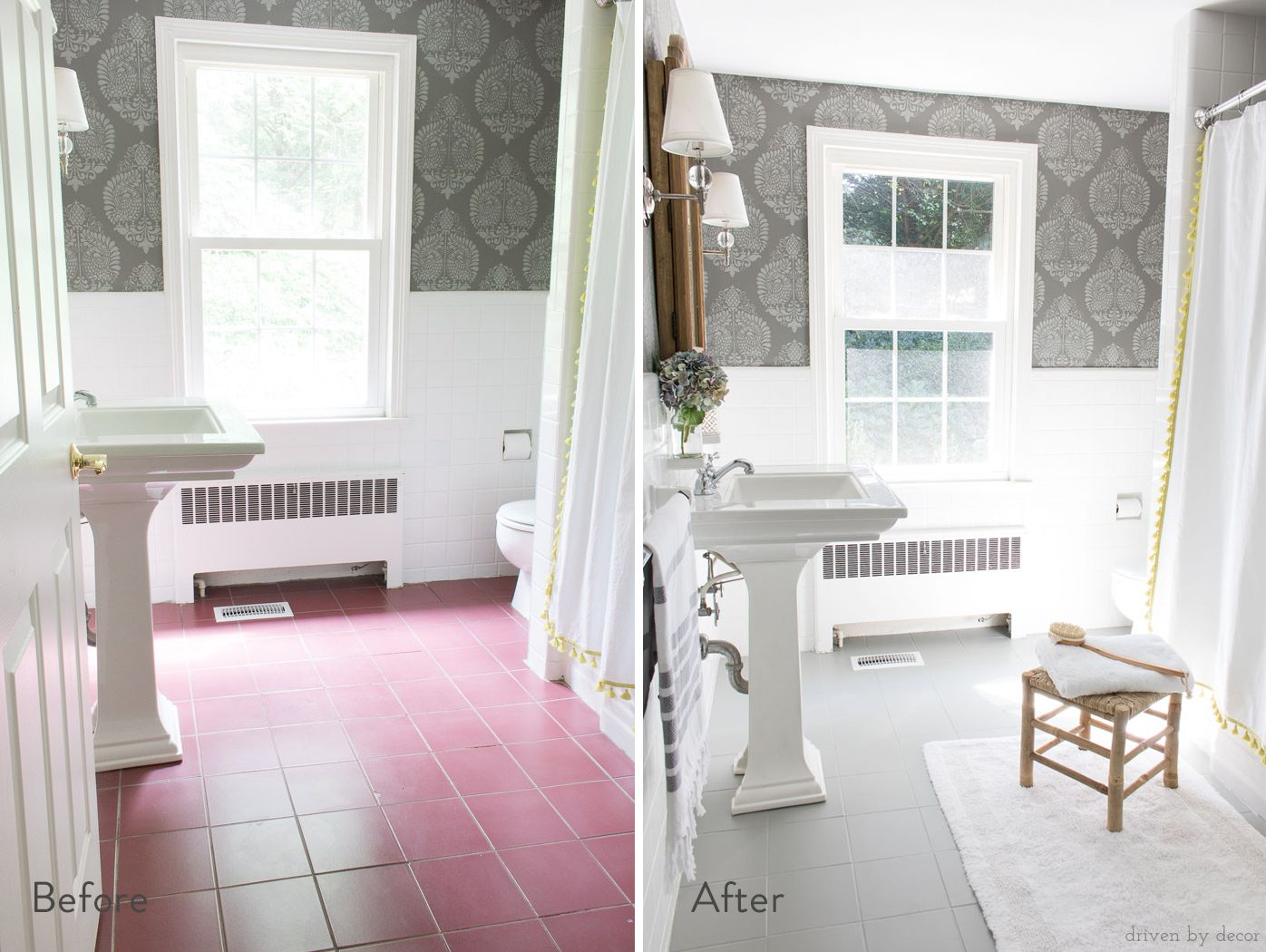 How To Build Diy Floating Shelves 7 Different Ways Painting Tile Floors Painting Tile Tile Floor Diy