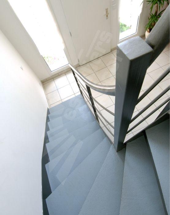 Photo DT30 - ESCA\'DROIT® 1/4 Tournant Intermédiaire. Escalier ...
