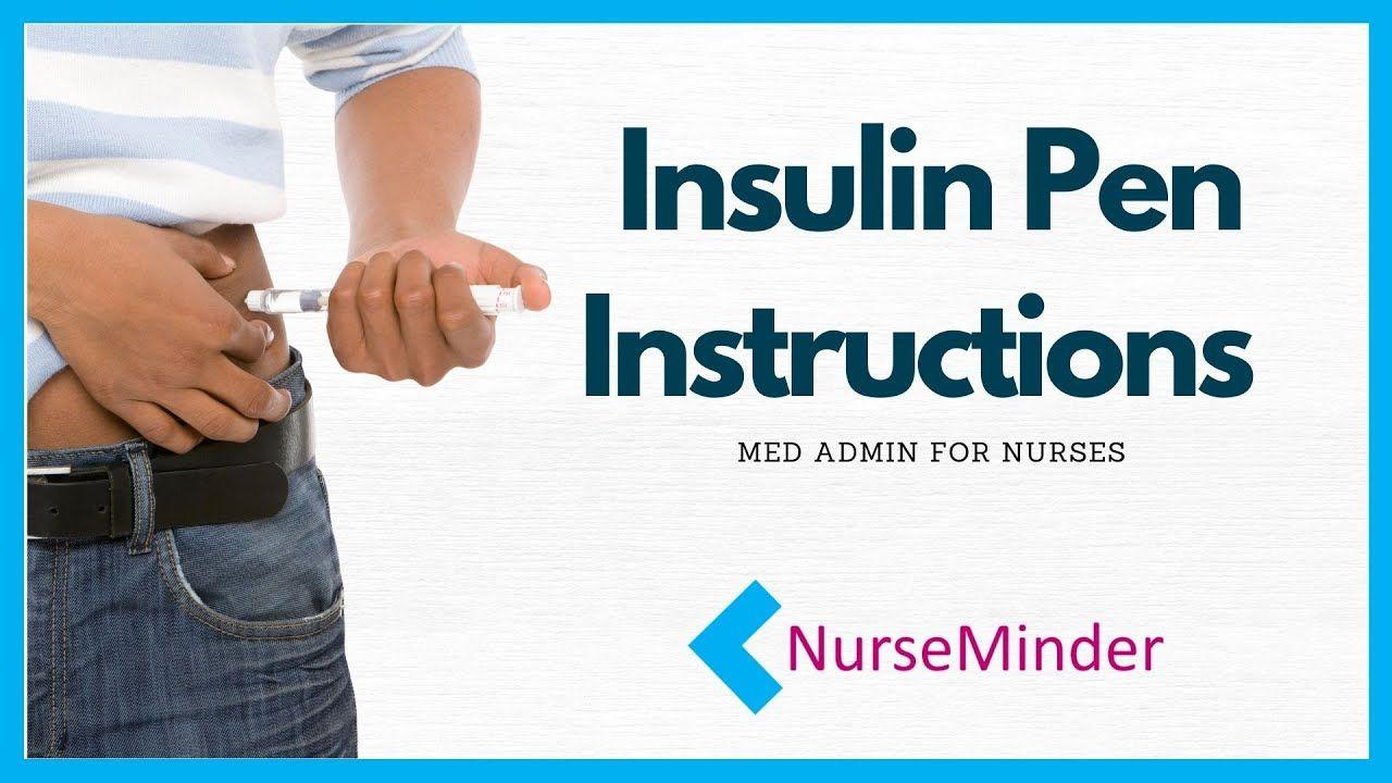 Insulin Pen Instructions How To Use Nursingschool Nurse Nurses Rn Nursingstudent In 2020 Nursing Students Nurse Instruction