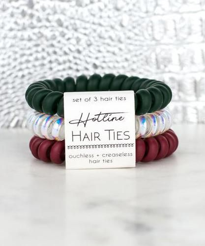 Hotline Hair Ties Set - Mistletoe  ea57018f40e