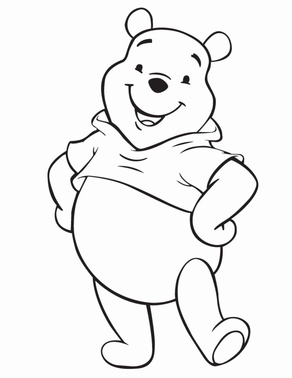 Easy Disney Coloring Pages For Kids Disney Character Drawings Baby Disney Characters Bear Coloring Pages