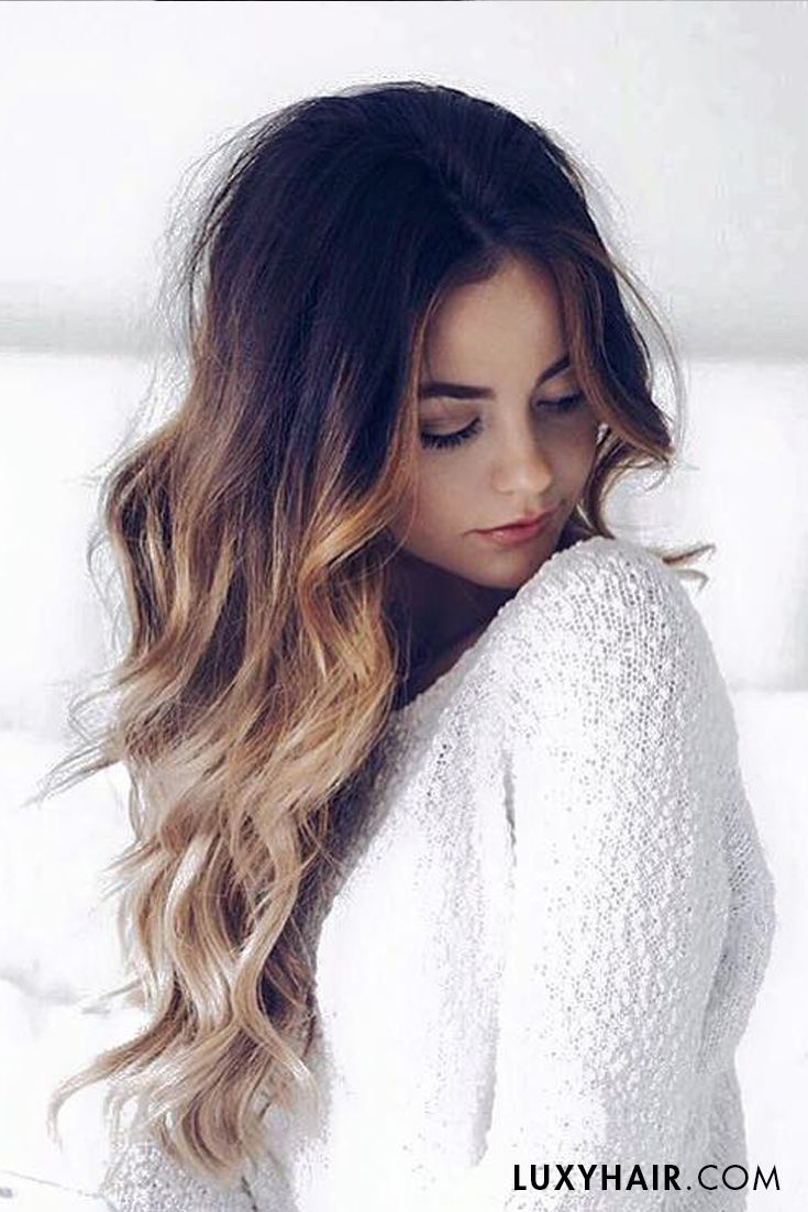brunette ombre hair ombre hair 20 quot classic ombre blonde clip ins 20 quot 160g balayage