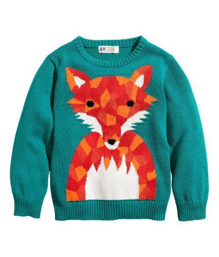 Hm Kersttrui.H M Toddler Boy S Fox Sweater Foxy Little Fox Kids Fashion Boy