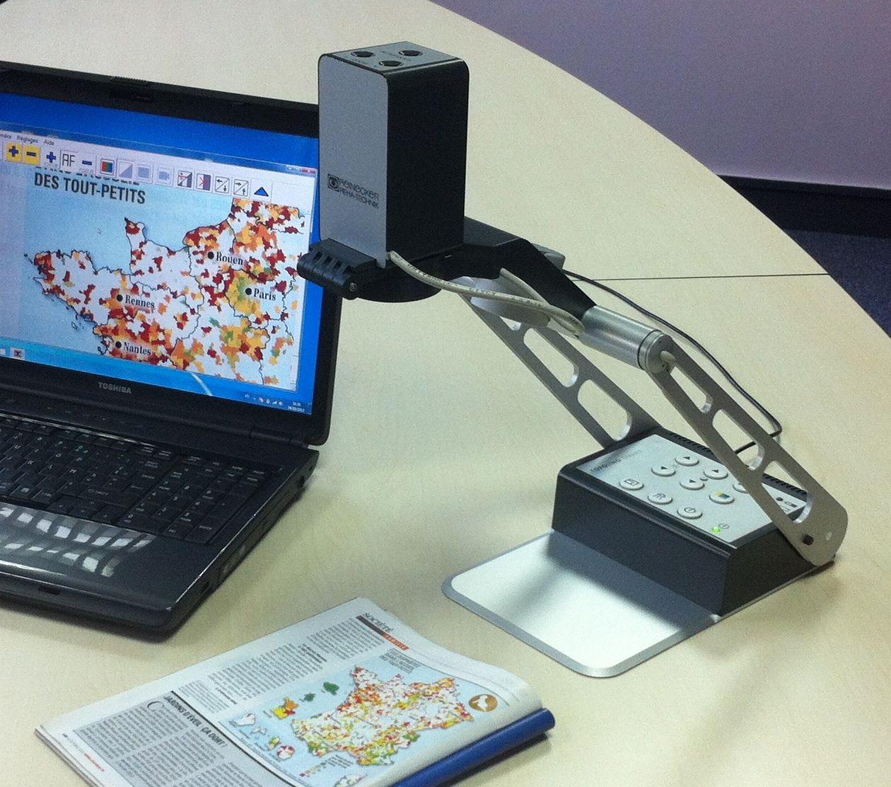 Topolino Smart, vidéo agrandisseur informatique pour un