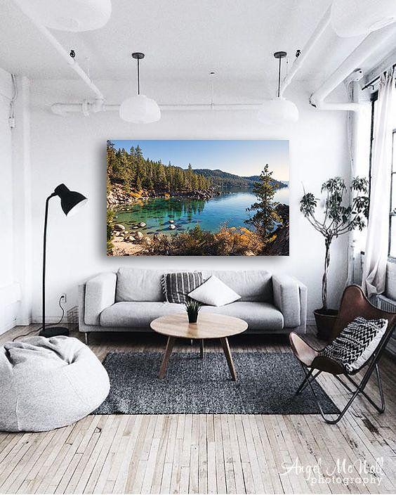 Best Kelvin For Living Room: Large Lake Tahoe Wall Art, Secret Cove, Landscape