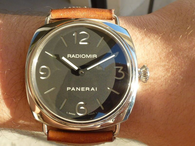 Men S Panerai Pam 210 Radiomir Black Base Sandwich Dial Stainless