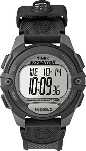 Timex Men s T40941 Expedition Digital Chrono Alarm Timer Charcoal Black  Nylon Strap Watch e58c4ad846