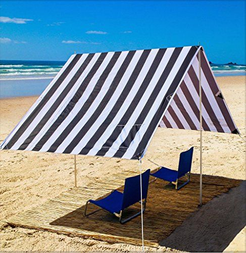 Beach Cabana Sun Shelter Beach Tent  Black u0026 White Stripe Byron Bay Beach Shade  & Beach Cabana Sun Shelter Beach Tent : Black u0026 White Stripe Byron ...
