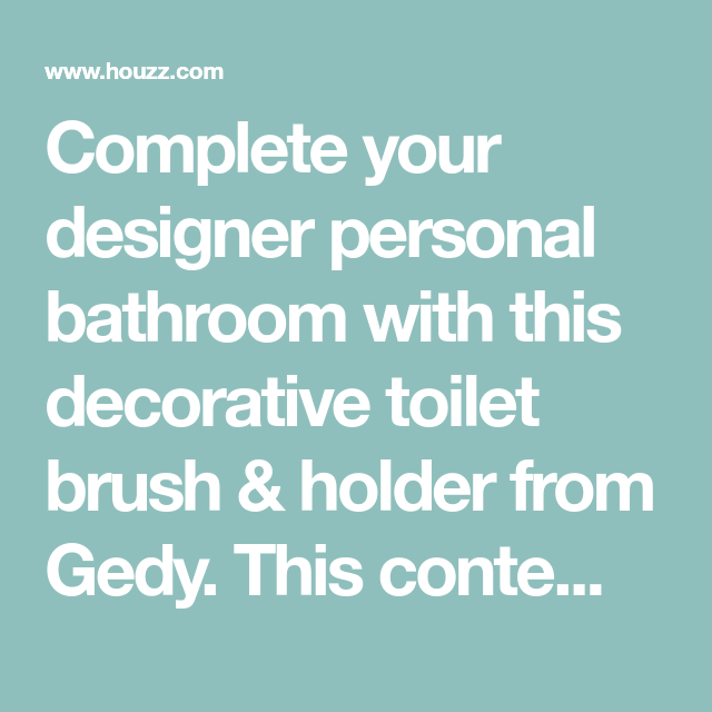 Complete your designer personal bathroom with this ...