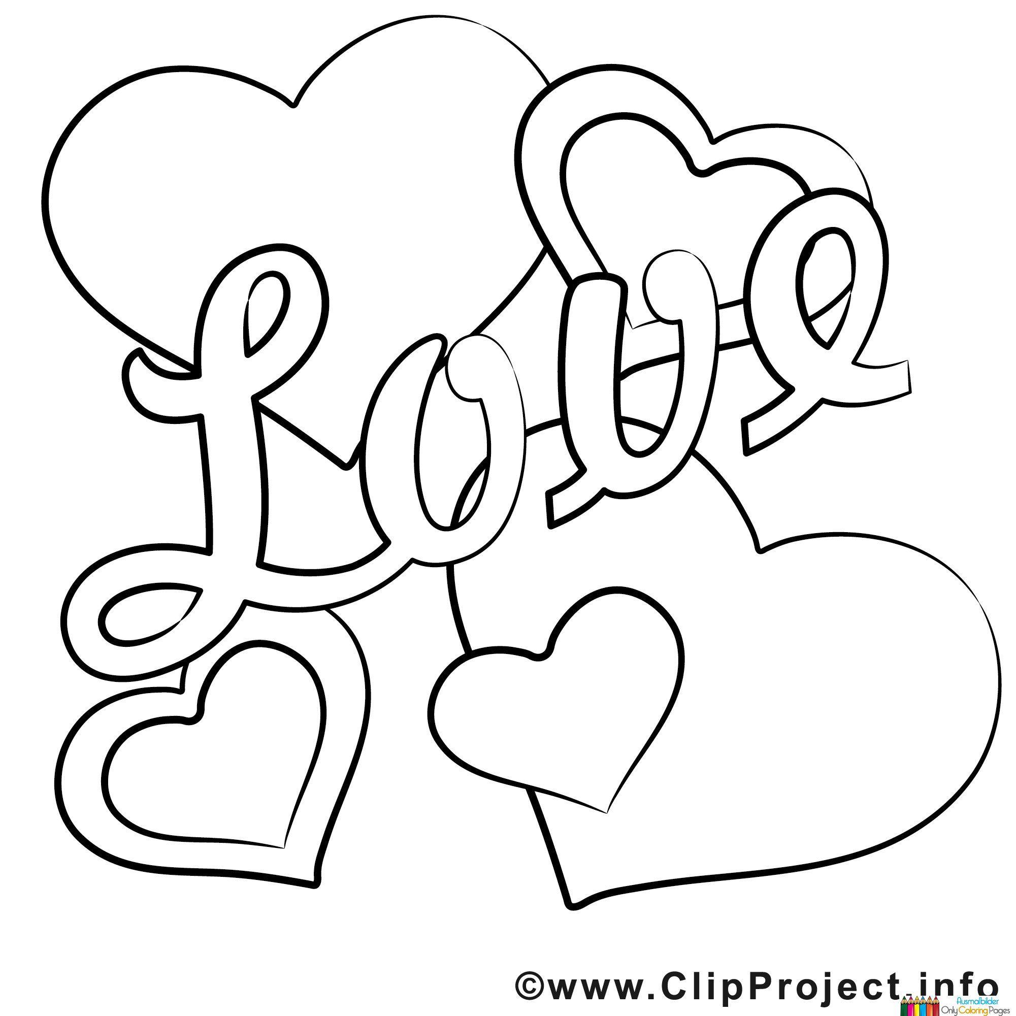 Love Bild zum Ausmalen | Coloring pages | Pinterest | Bilder zum ...