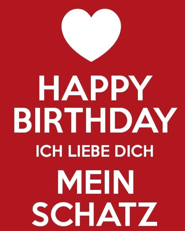 Happy Birthday Mein Zuckersusser Schatz Ich Liebe Dich Uber