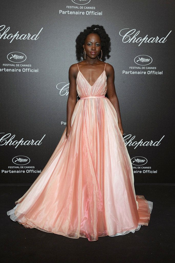 Lupita Nyong\'o wore a pink Prada gown to the Chopard Secret Night ...