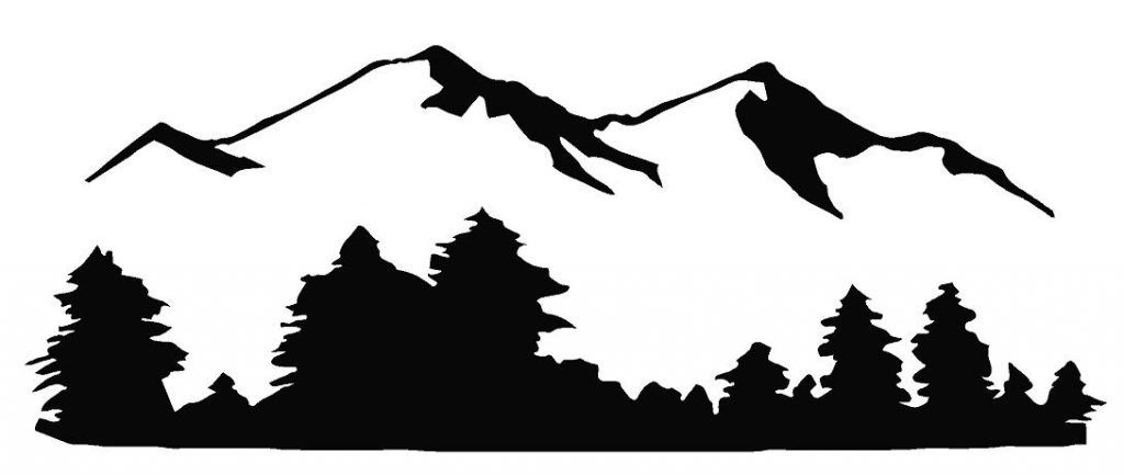 Image Result For Mountain Range Clipart Silhouette Art Mountain Silhouette Tree Wall Art Diy