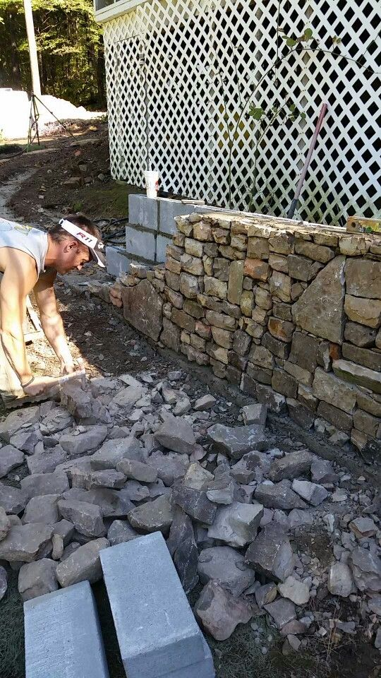 Hardscaping-Stone wall