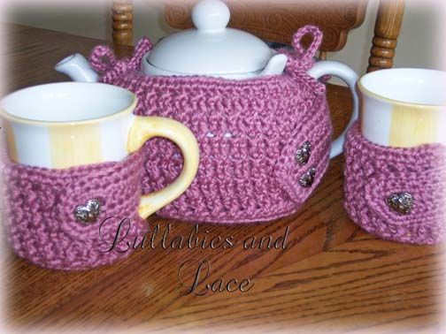 Crochet Pattern - Cabled Tea Cozy Set | tejidos | Pinterest ...
