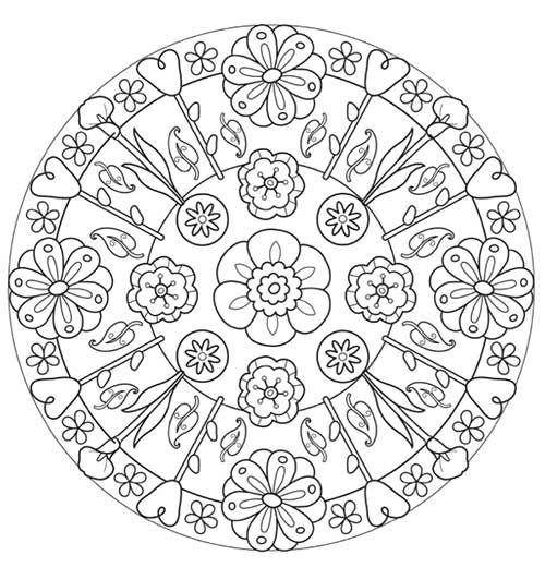 Mandalas para colorear | Bordado con piedras | Pinterest | Colores ...
