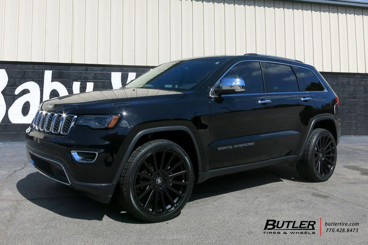 Jeep Grand Cherokee With 22in Black Rhino Spear Wheels Jeep