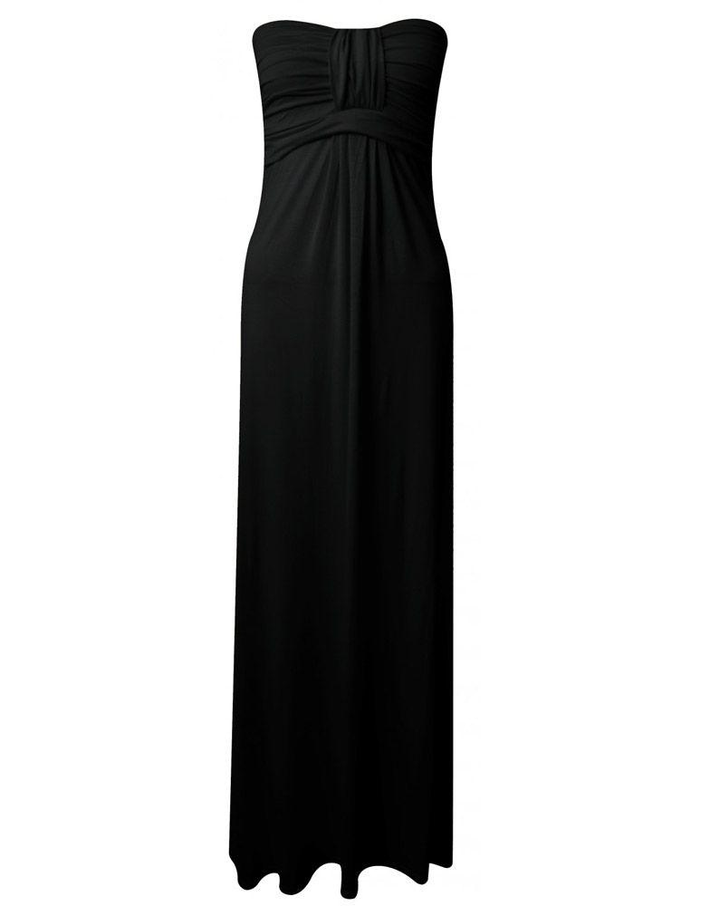 o-black-strapless-plain-maxi-dress-