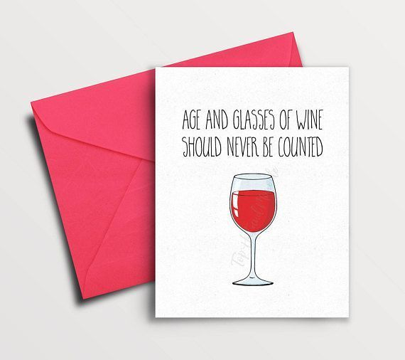 Funny Birthday Card Best Friend, Wine Quite, Wine Lover