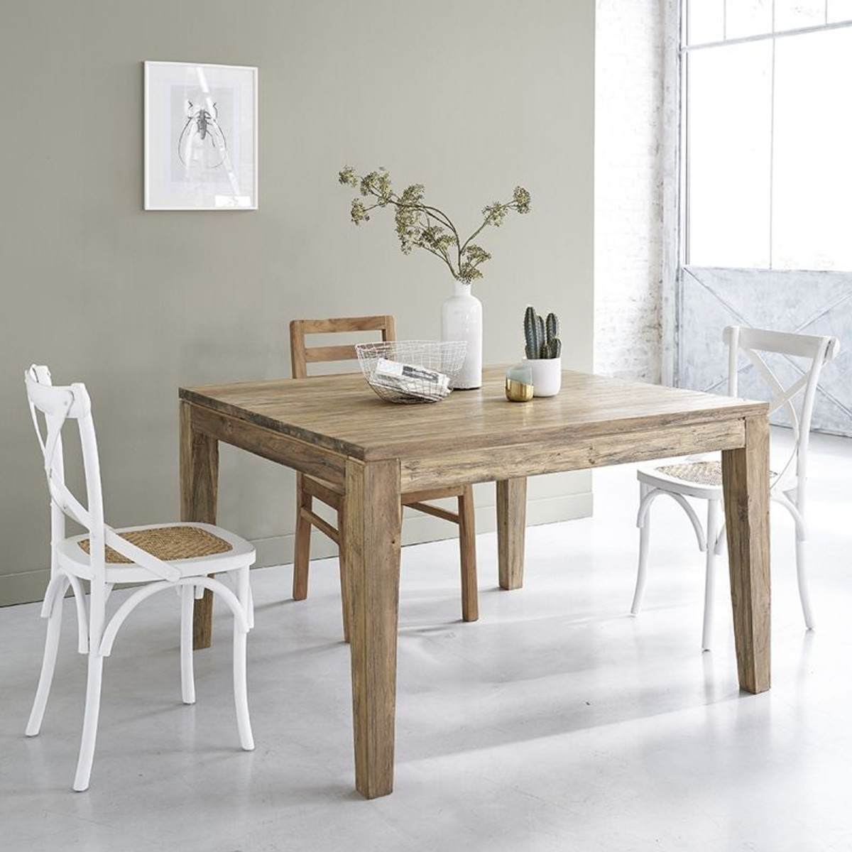 Table En Bois De Teck Recycle Avec Rallonges 8 A 10 Couverts Taille 10 Pers Table Bois Bois De Teck Et Salle A Manger Beige