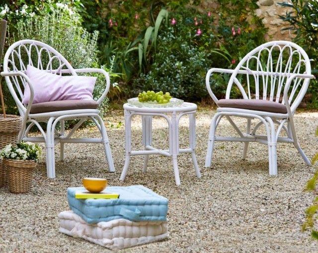 Un mini salon de jardin pour petit espace | craft | Garden furniture ...