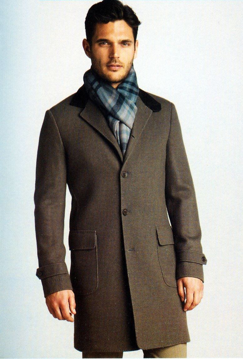 Herrenmantel mit Kontrastkragen   Mode Männer Kurzmantel   Pinterest ... 3416f45ae4