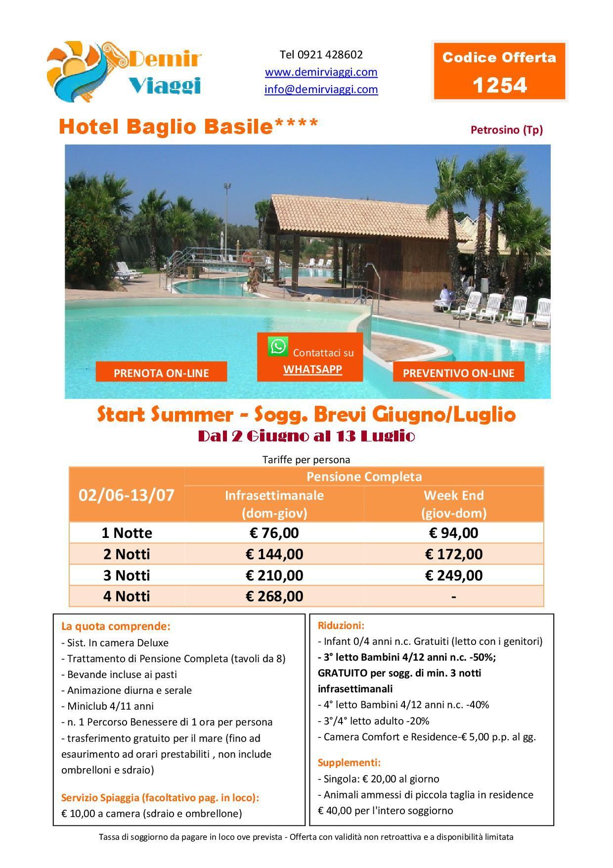 Hotel Baglio Basile**** - Petrosino (Tp) Soggiorni Brevi ...