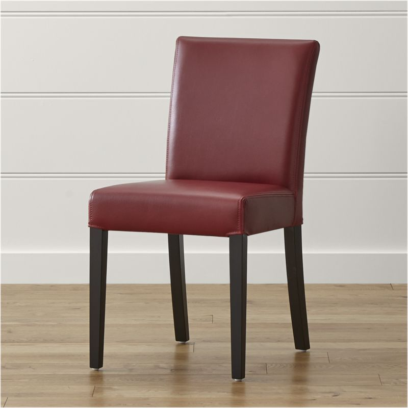 Lowe Red Leather Dining Chair Upholstered In Vibrant Our Side Adds Color To The Dinner Conversation