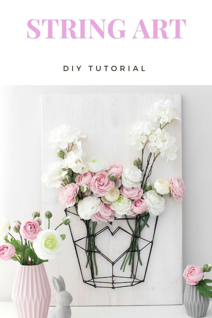 DIY Fadenbild für den Frühling in deinem Zuhause