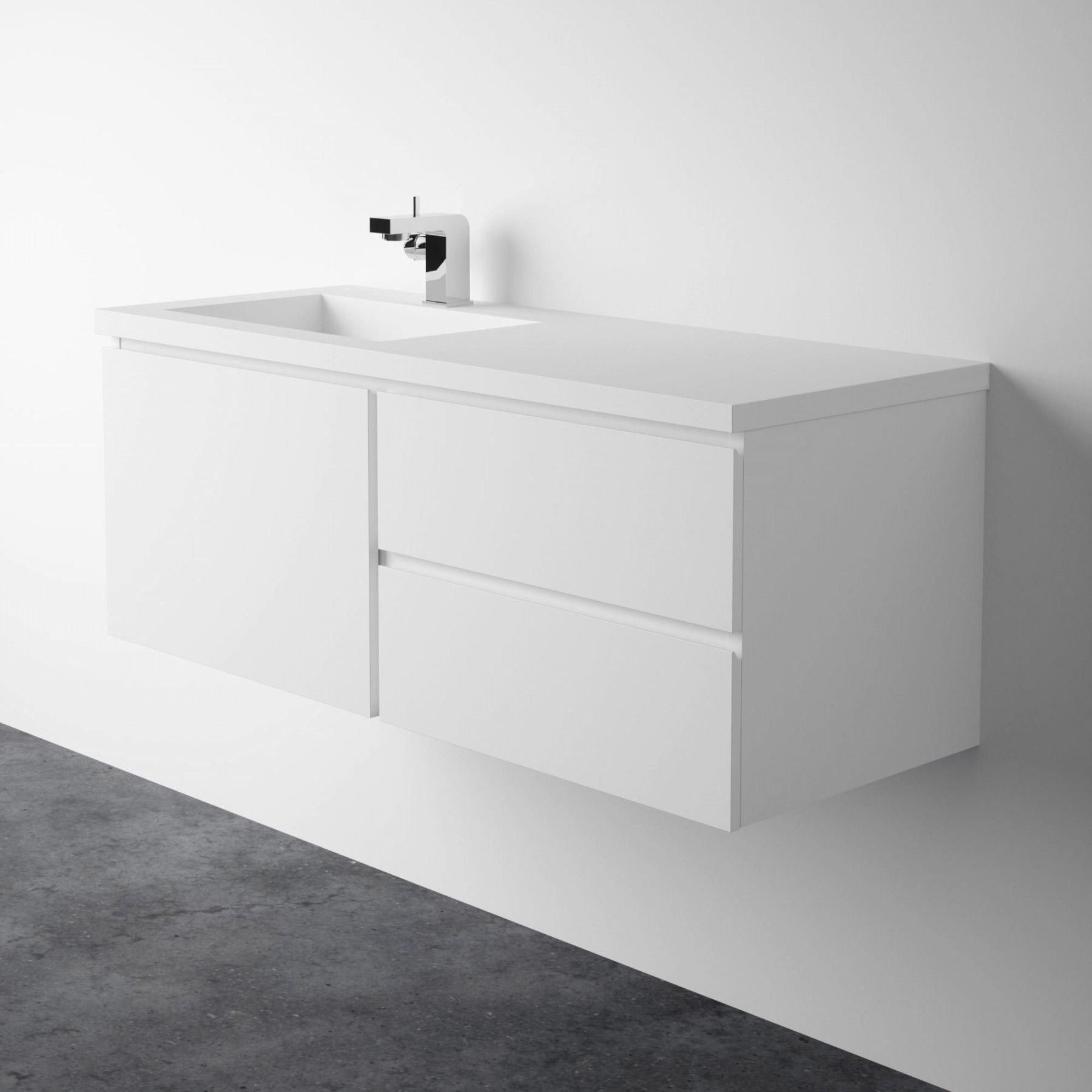 Bellissimo 1200mm Wall Mounted Gloss White Double Vanity Unit Basin Vanity Unit Vanity Units Double Vanity Unit