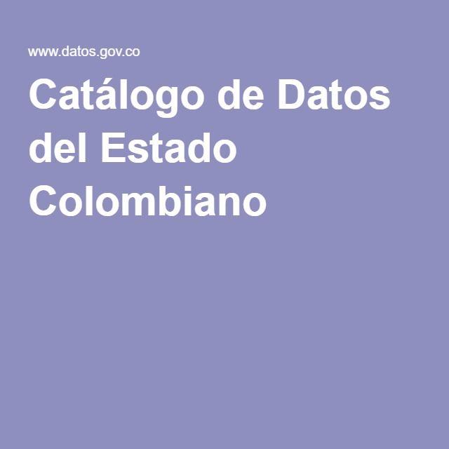 Catálogo de Datos del Estado Colombiano