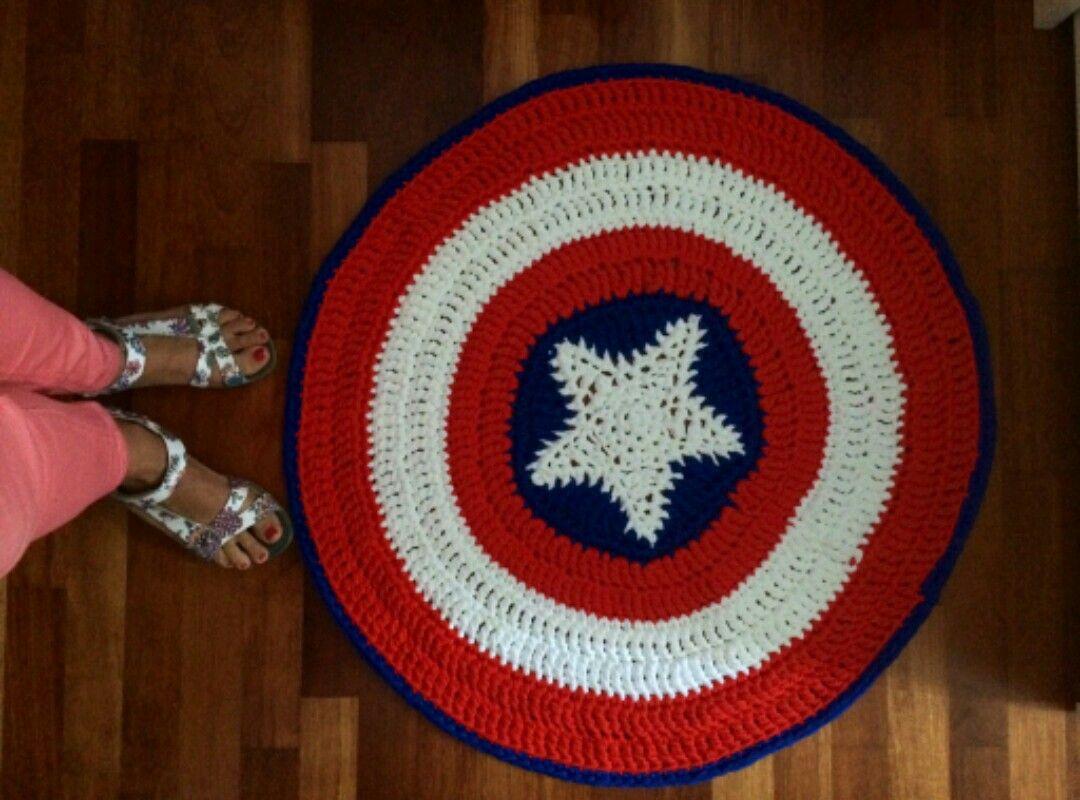 Capitán América | Alfombra trapillo, Trapillo, Capitán américa