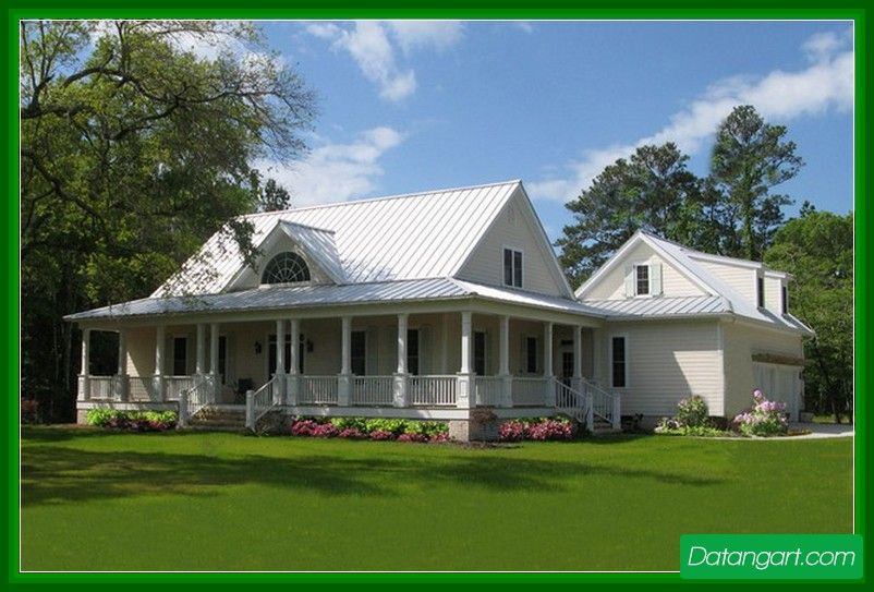 Superieur Renovate Your One Story Country House Plans With Porches Design Idea And  Insert A Fresh New
