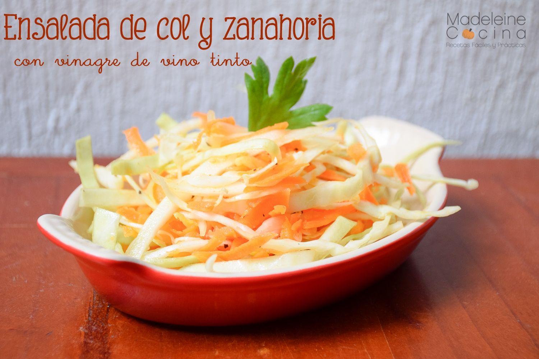 Ensalada De Col Y Zanahoria Con Vinagre De Vino Tinto Ensalada De Col Y Zanahoria Ensalada De Col Vinagre De Vino Sé el primero en valorar zanahoria en vinagre cancelar la respuesta. pinterest