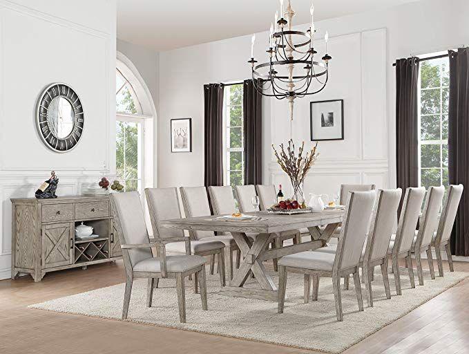 c2794e44ea Amazon.com - Acme Furniture 72860 Rocky Dining Table Gray Oak - Chairs