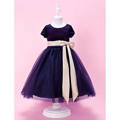 Velvet Flower Girl Dress
