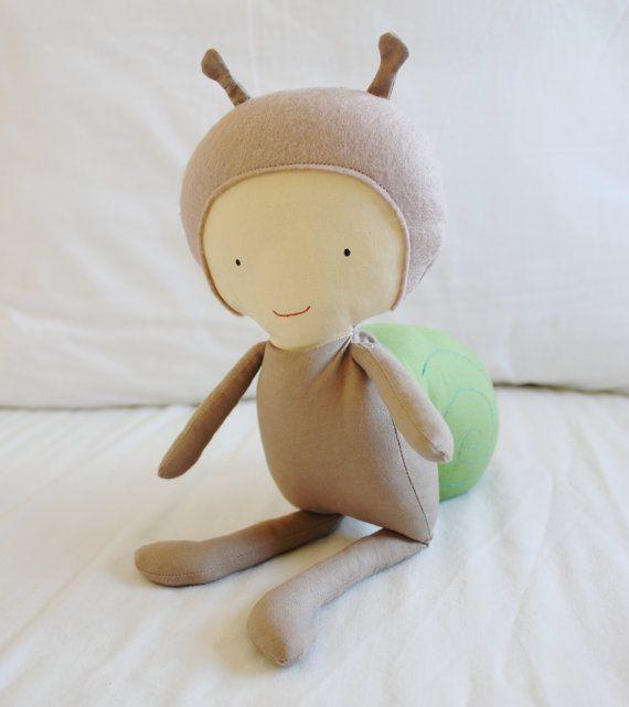 Snail Cloth Doll Sewing Pattern PDF Softie Toy Plushie