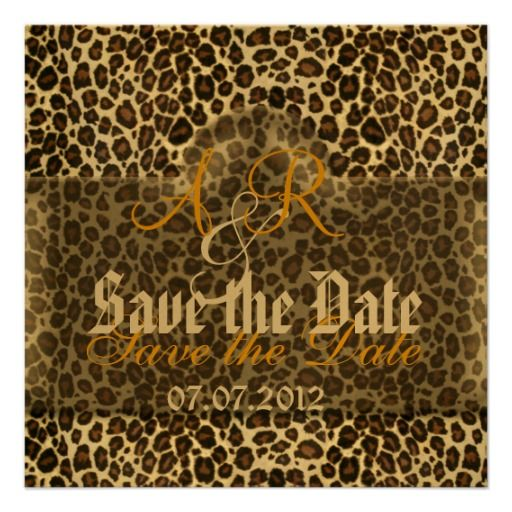 Leopard Save the Date Custom Invitations