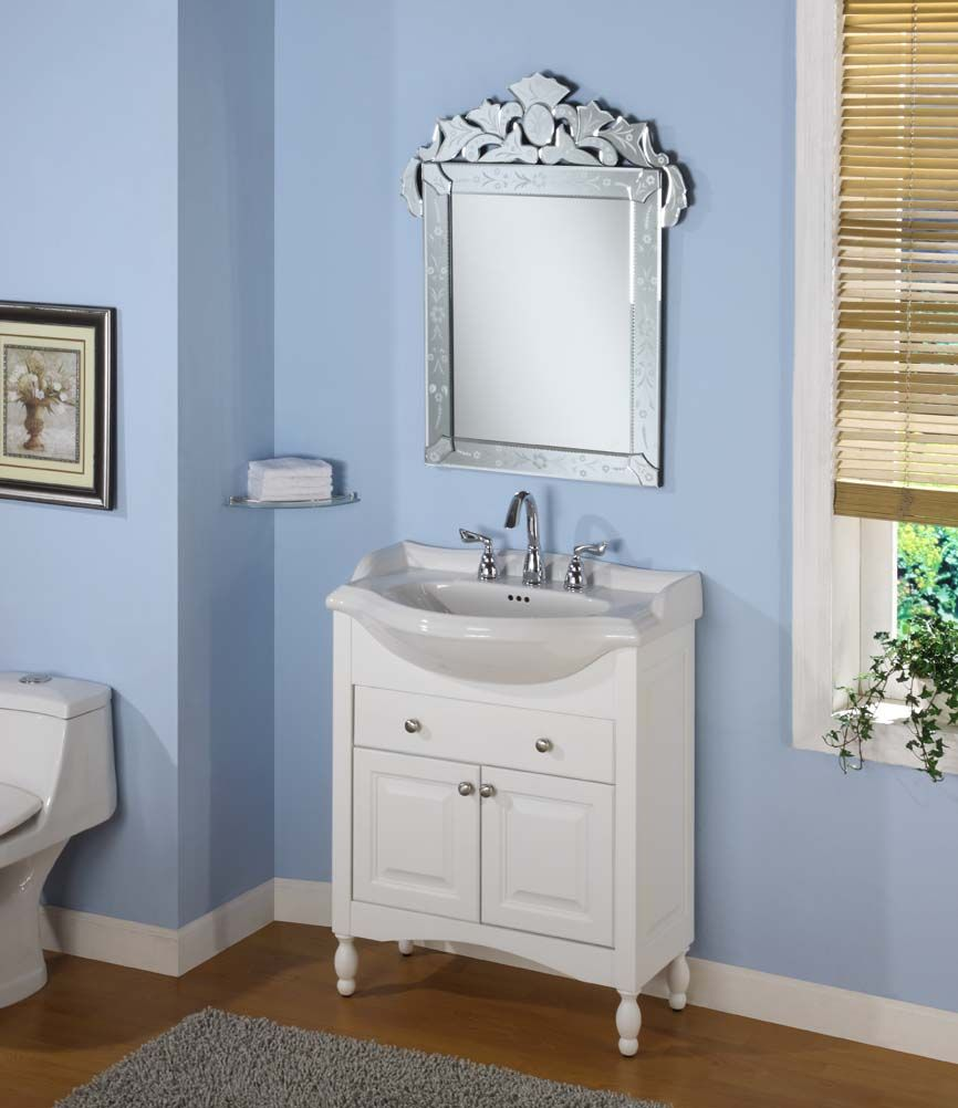 Shallow vanity bathroom pinterest best shallow and for Bathroom cabinets narrow depth